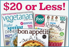 Cooking Magazines - $20 or Less