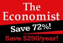 The Economist Magazine Subscription - Save 72%